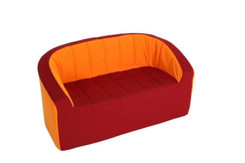 Double-Armchair (vinous/orange)