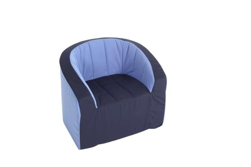 Armchair (blue/light blue)