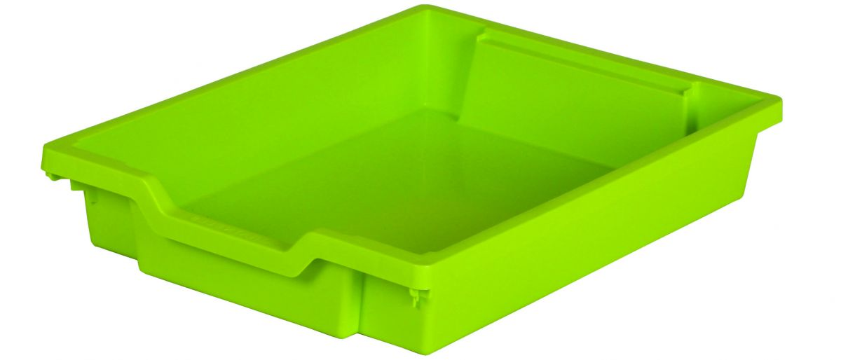 Plastic drawer SINGLE, lime Gratnells