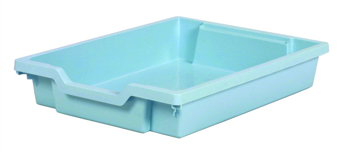 Plastic drawer SINGLE, pastel blue