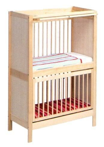 Bed DUO LEDIKANT dimension 100x50 cm, 4 sides bars, fixed beds, 2 x doors