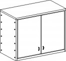 Two-door cupboard without plinth and with 2 shelves