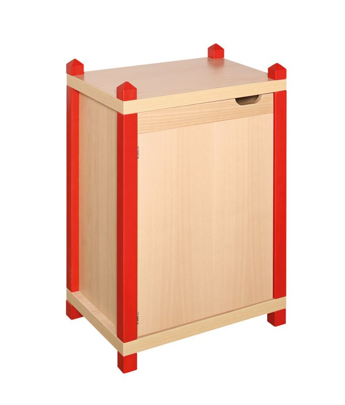 One-door cupboard with 2 shelves