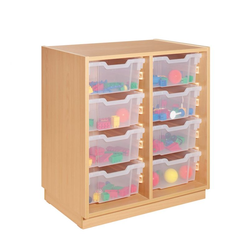 Cupboard with plastic drawers