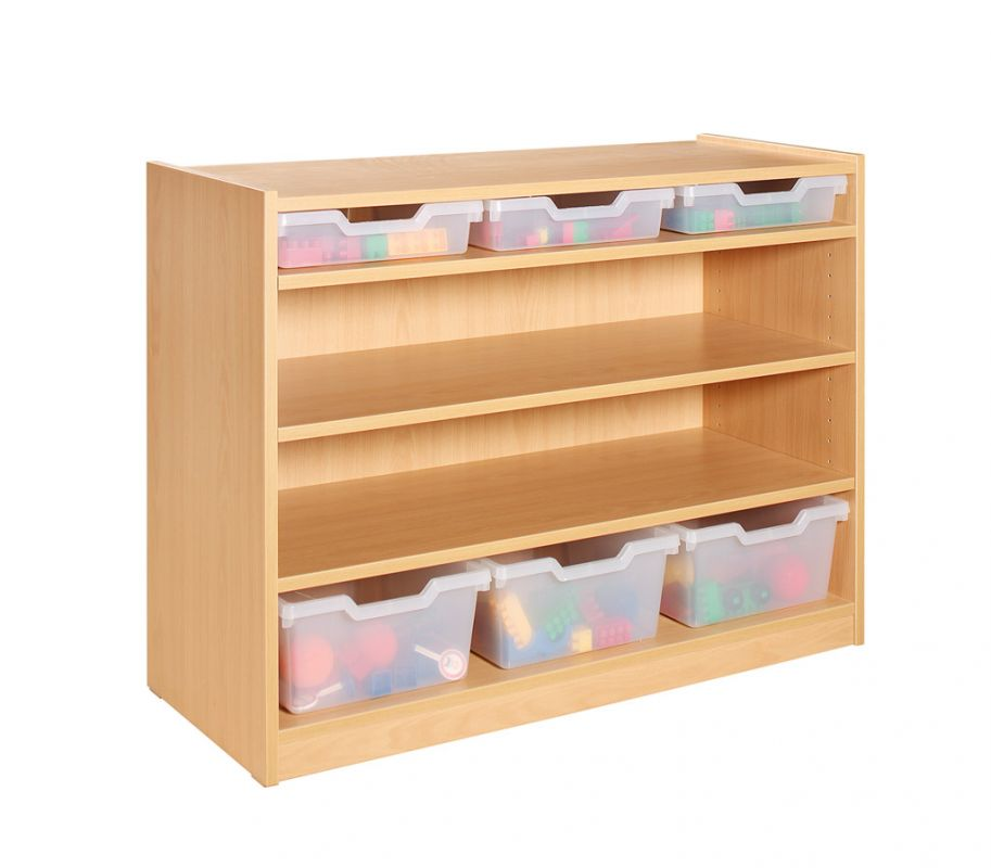 Cupboard with 3 shelves and 6 drawers