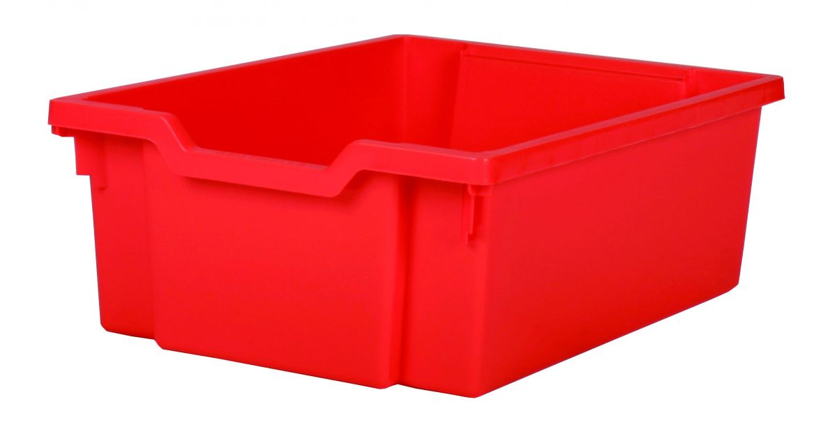 Plastic tray DOUBLE - red Gratnells