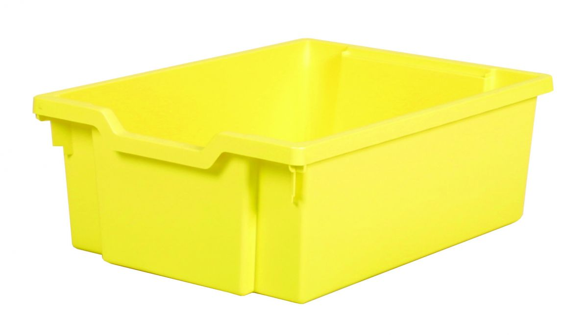Plastic drawer DOUBLE - pastel yellow