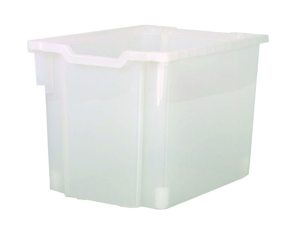 Plastic drawer JUMBO - translucent