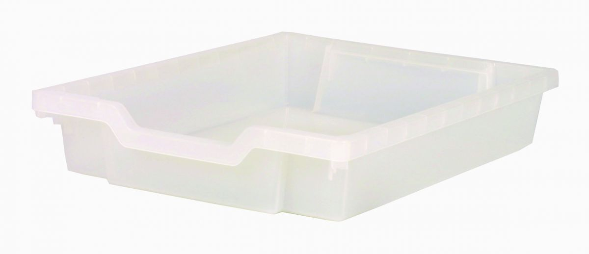 Plastic drawer SINGLE, clear Gratnells