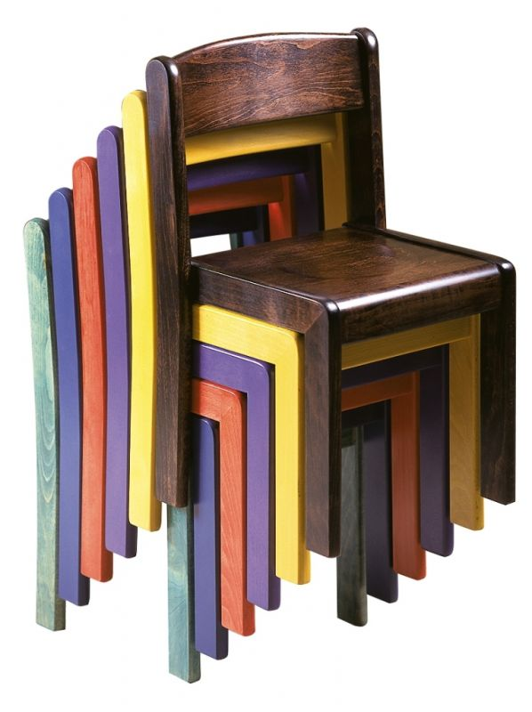 Stackable chair TIM - stained all over