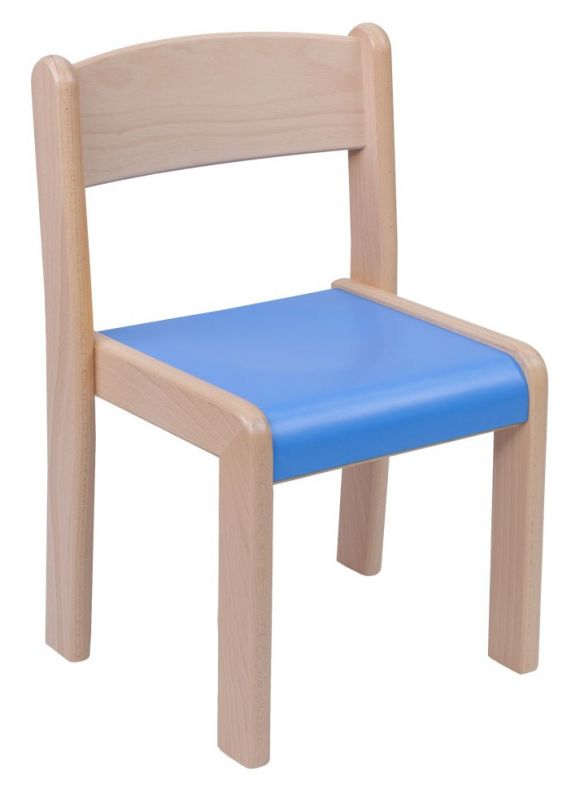 Stackable chair VIGO - coloured formica seat