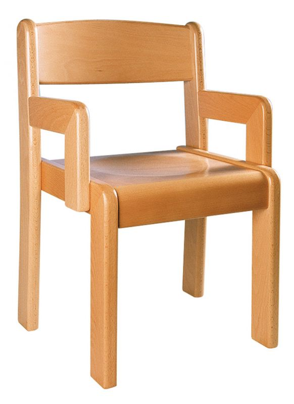 Chair with arm rest - natural