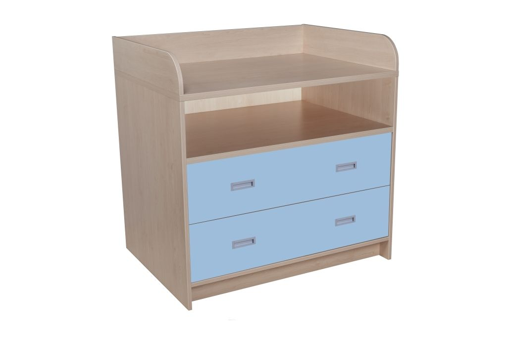 Batching cupboard with 2 drawers