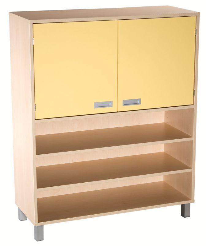 Combined two-door cupboard with shelves - LEGS