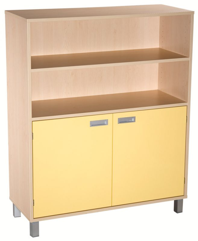 Combined two-door cupboard with shelves - LEGS