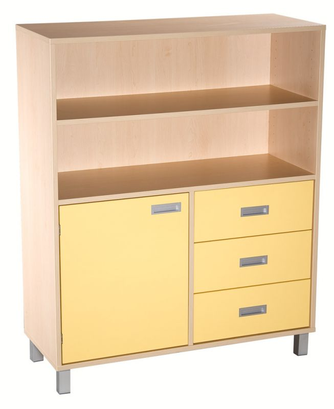 Combined cupboard with drawers and door - LEGS