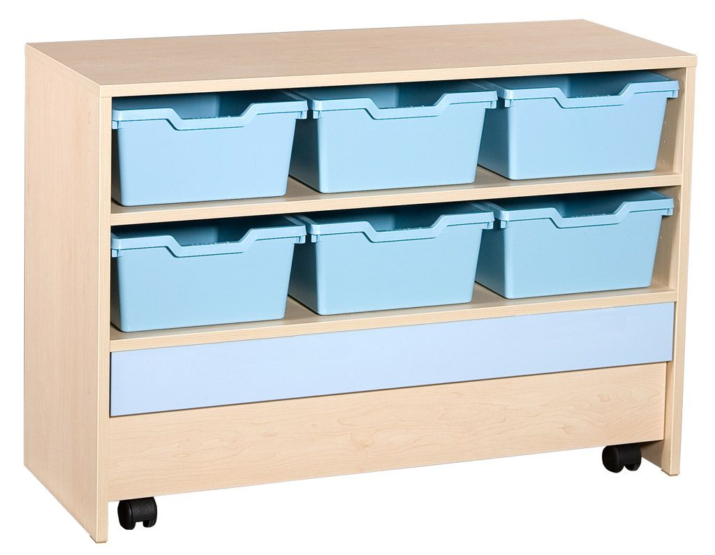 Cupboard with 1 shelf and 6 plasic trays