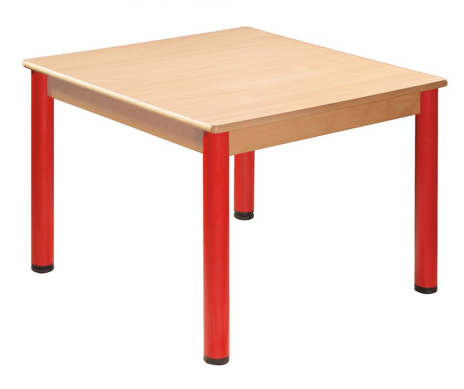Square table 80 x 80 cm with levelling feet