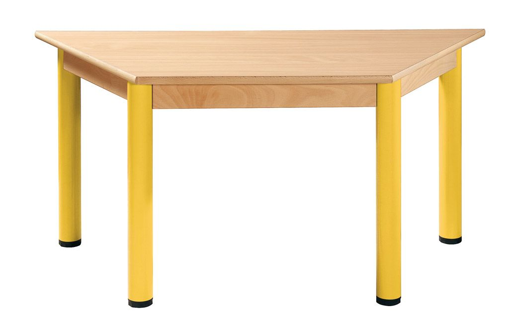 Trapezoidal table 120 x 60 cm with levelling feet