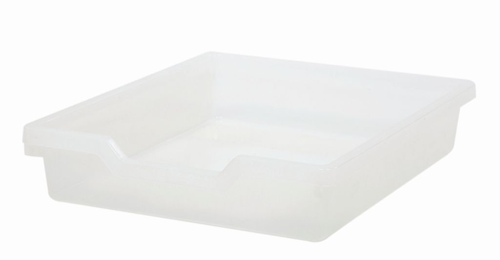 Plastic drawer N1 SINGLE, translucent Gratnells