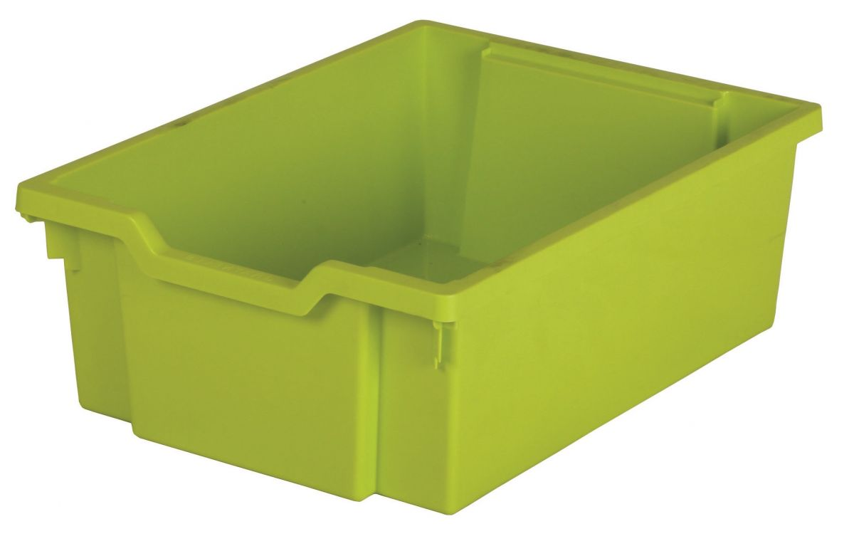 Plastic drawer N2 DOUBLE - lime Gratnells
