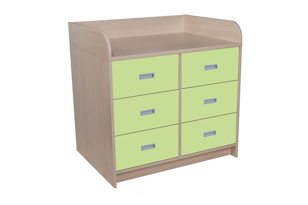 Batching cupboard with 6 drawers