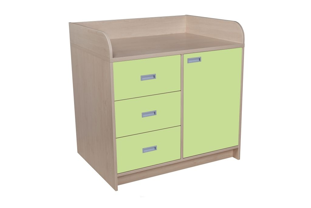 Batching cupboard with drawers and doors