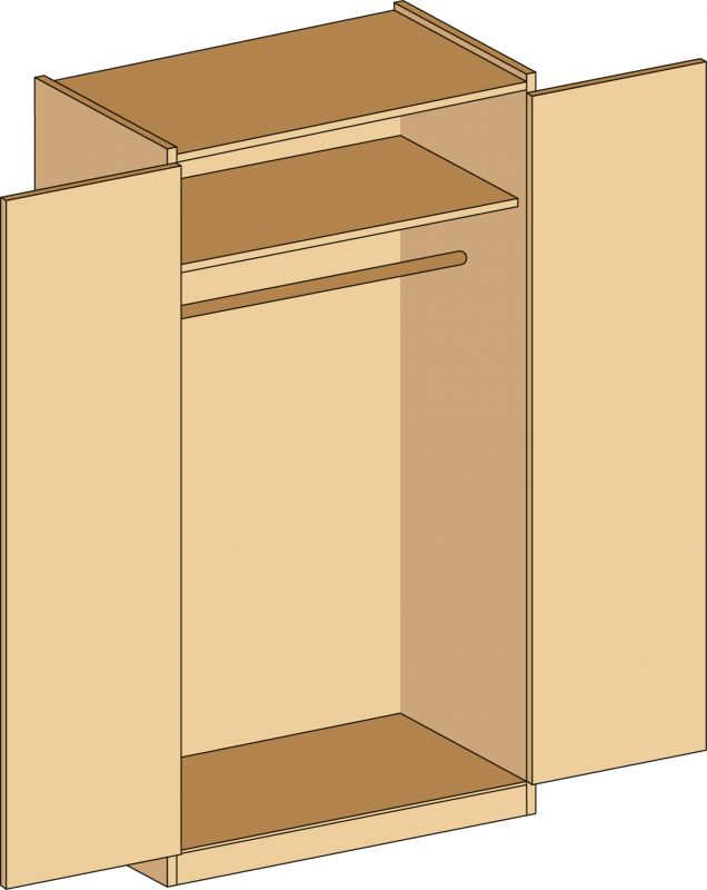 Cabinet with locker doors