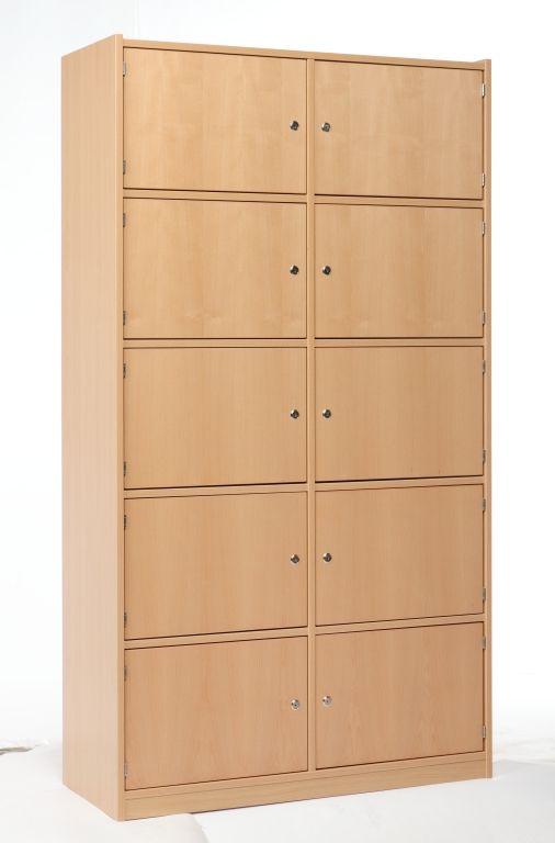 Cabinet with 10 locker doors