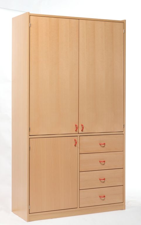 Cabinet with 3 doors and 4 drawers