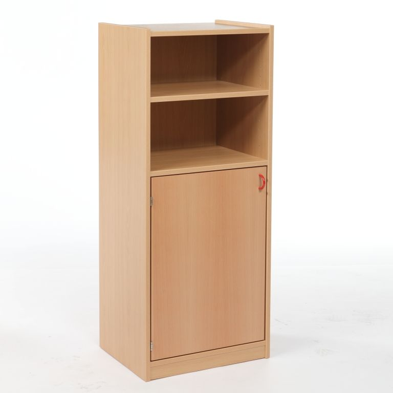 One-door cupboard with shelves