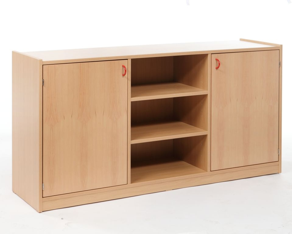 Combined cupboard with shelves, single-sided