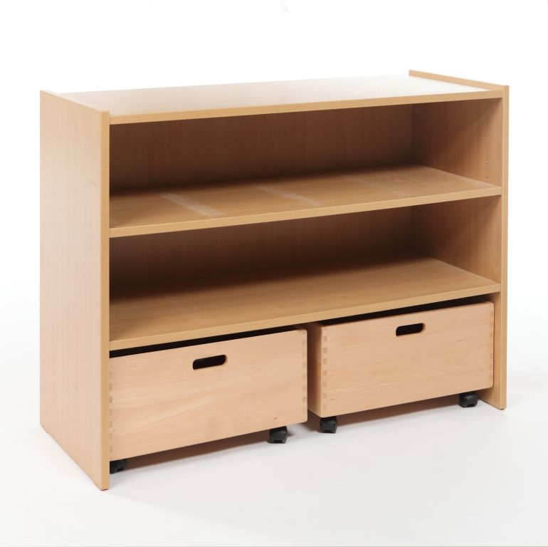 Cupboard with 1 shelf and 2 drawers