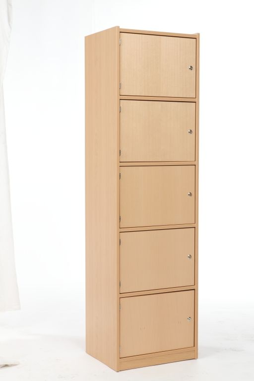 Cabinet with 5 locker doors