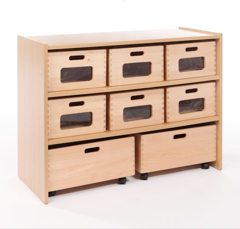 Cupboard with 1 shelf and 8 drawers