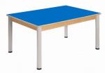 Table 120 x 80 cm / height adjustable legs 58 - 76 cm