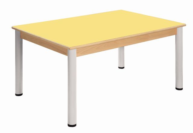 Table 80 x 60 cm / height adjustable legs 52 - 70 cm