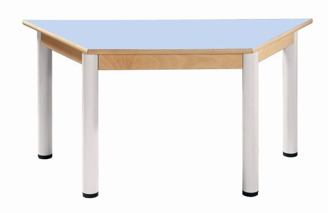 Trapezoidal table 120x60 cm / height adjustable legs 36 - 52 cm