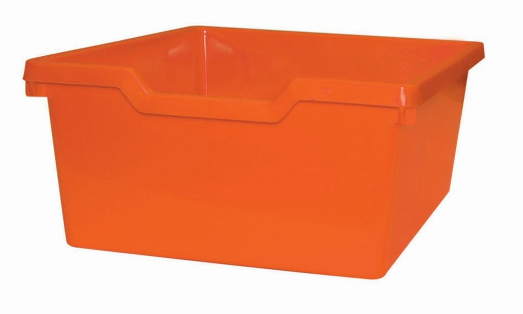 Plastic drawer N2 DOUBLE - orange Gratnells