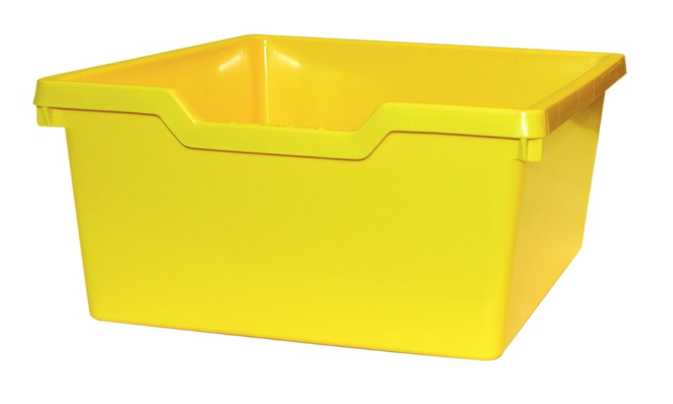 Plastic drawer N2 DOUBLE - light yellow Gratnells