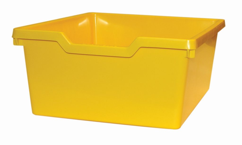 Plastic drawer N2 DOUBLE - yellow Gratnells