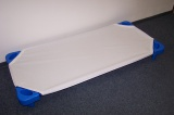 Cotton sheet to plastic. lounger 21,019, WHITE