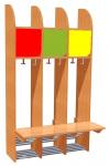 Three-piece cloakroom unit, colour combination