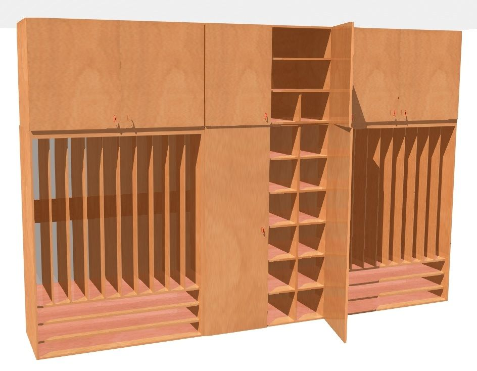 Set of cupboards for beddings and mattress along with extension for 26 childrens