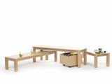 View detail - Set of 3 benches with formica seat