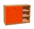 View detail - Cupboard with plint, 2 doors left and 4 shelves