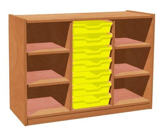 Cupboard with plint, 4 shelves and 7 plastic drawers TVAR v.d. Klatovy