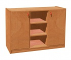 Cupboard with plint, 2 doors and 6 shelves