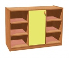 Cupboard with plint, door and 6 shelves