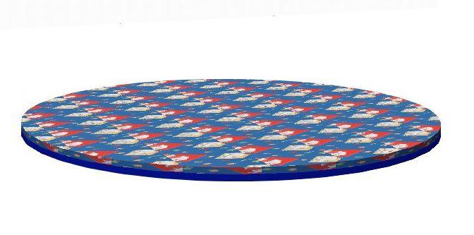 Circular mattress to play